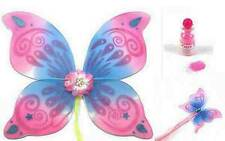 Swirl Pink/Blue Fairy Wings & Wand + Fairy Dust Fancy Dress FREE DELIVERY