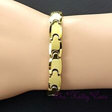 Magnetic Tungsten Arthritis Relief Ladies Mens Slim 24K Gold PL Rhodium Bracelet