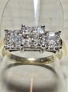 18ct. 750. Gold. Dparkling Diamond Ring. Size P. U.S. Size 8