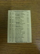 1981 Oakland University: Official Soccer Fixture Card. Thanks for viewing this i