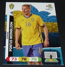 PONTUS WERNBLOOM SVERIGE SUEDE FOOTBALL CARD PANINI UEFA EURO 2012