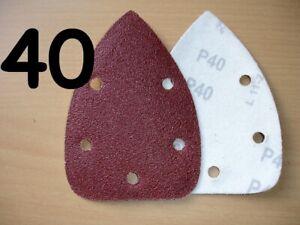 MOUSE SANDER SANDING SHEETS PADS fit BLACK & DECKER 40 60 80 120 240 grit 140mm