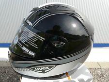 Motorradhelm  Fiberglashelm GFK Helm Uvex schwarz weiss grau Gr M  UVP 399,99 !