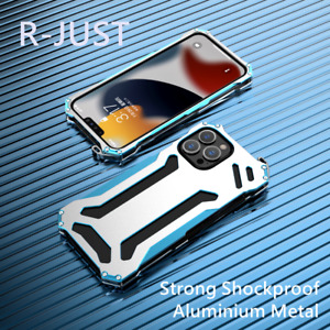 R-JUST Strong Shockproof Aluminium Metal Case Cover For iPhone 7 8 X XR 11 12 13