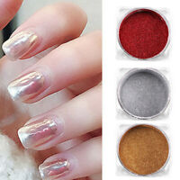 AM_ HD_ FP- FA- Glitter UV Gel Polish Nail Art Mirror Powder Shining Chrome Pigm