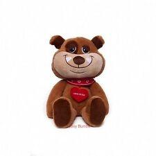 Brown Puppy Dog Soft Plush Toy Valentines Bear Gift - Love Bites - Called Butch