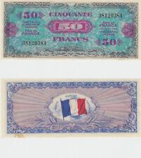 Billet du Trésor 50  FRANCS DRAPEAU  JUIN 1944 Sans série N° 38120384