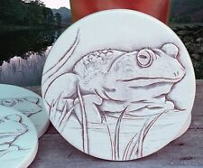 BULL FROG STONE DRINK COASTER set of 4 MOST ABSORBENT, Clay