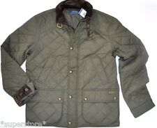 $345 POLO RALPH LAUREN Men QUILTED Hagan Barn BUSINESS Jacket CAR Coat OLIVE L