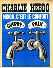 """""""CHARLIE HEBDO N°102 du 30/10/1972"""" Gébé : NIXON, C'EST LE CONFORT (GUERRE-PAIX)"""