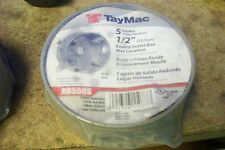 TayMac Rb550S Round Outlet Box; Die-Cast Metal