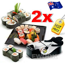 2x Delicious Sushi Maker Easy Roll Roller Machine Perfect Magic Kitchen Gadgets