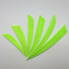 "50pcs 3"" 4"" 5"" Fluorescent Green Rw Fletches Feathers Fletching Accessories"