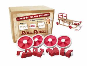 Roll Rodel Bausatz - Tuning Set für alle Holzschlitten / Räder für Schlitten