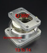 T3 To T4 Turbo Inlet V Band Stainless Rotation Conversion Adp Flange w/Gasket