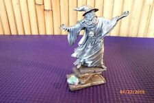 Rare RETIRED 1989 Rawcliffe Pewter Krakora Sorcerer Wizard w/ Crystals Figurine