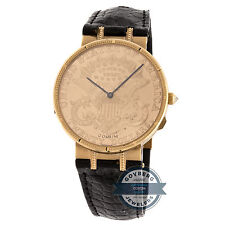 Corum $20 Coin Limited Edition Manual Yellow Gold Mens Strap Watch Deployment