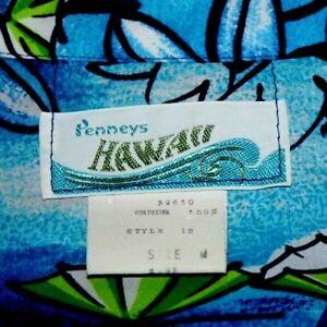 Men's   Vintage  Penney's  Hawaii  Floral   button up   shirt  Medium     EUC