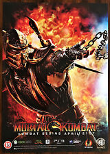 Mortal Kombat Sub Zero RARE PS3 XBox Original Video Game Promo Poster 43x60cm #6