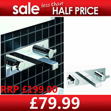 Luxurious Two-handle Square Bath Basin Mixer Wall Mounted Tap  B652