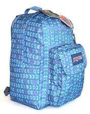 New JanSport Big Digital Student Laptop Backpack -- Blue Mesa Geo