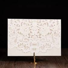 50pcs Laser Cut Personalized Printing Wedding Invitation Card InnerCard Envelope