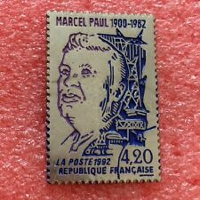 Pins LA POSTE TIMBRE MARCEL PAUL 1992