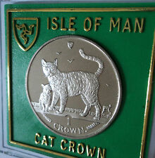 2002 Isle of Man Bengal Breed Cat Crown Coin (BU) Collector Collecting Gift Set