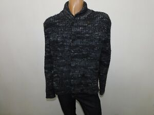 Cardigan Calvin Klein uomo taglia size L man sweater homme pull lana grigio 9975