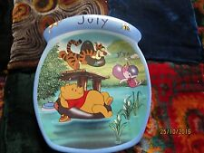 Winnie-the-Pooh-July-Birthday-Plate-Honey-Pot-Shaped from Bradford