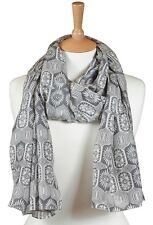 Quintessential Luxury Cotton/Silk Blend Scarf In Persia (grey) & Lovely Gift Box