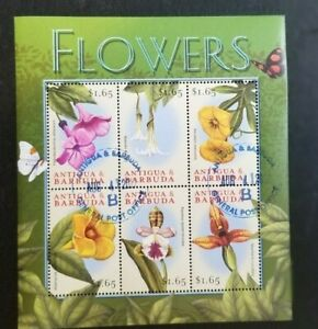 Antigua 1997 Flowers MS CANCELLED - Very difficult to find used copies 6 x $1.65
