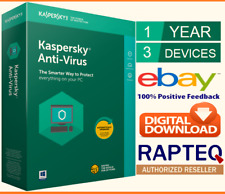 Kaspersky Anti Virus 2019 3 PCs 1 Year PC/Mac/Android UK VAT EMAILED 5 STARS