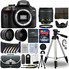 Nikon D3400 Digital SLR Camera + 18-55mm VR 3 Lens Kit + 32GB Best Value Kit