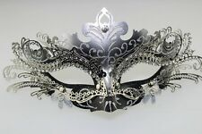 Bling Silver Venetian Metal Filigree Masquerade Event Party Mask For Women Lady