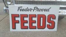 "Vintage 48"" Feeder Proved Feeds Metal Sign Feed Seed Farm Farmhouse"
