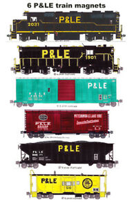 Pittsburgh & Lake Erie Locomotives and Train 6 magnets Andy Fletcher