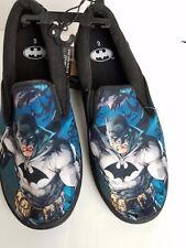 BATMAN Mens 9 DC Comics Canvas Slip on Shoes Sneakers JUSTICE LEAGUE SCHOOL
