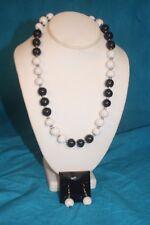 "Earring Set Black n White sku #1941 New - Kazuri 22"" Kanga Beaded Necklace n"