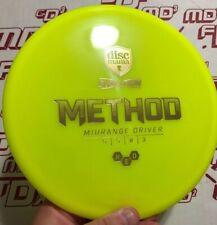 New! Discmania Evolution Neo Method Yellow w/ Gold @ 179 disc golf innova lat64