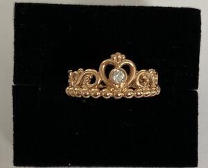 Genuine PANDORA Rose My Princess Tiara SS Ring Size 50 RRP $89