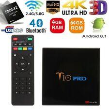T10 PRO TV BOX 4GB+64GB Android8.1 BT5.0 4K Quad Core WiFi Home Audio Media O1R9