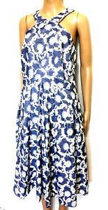 Karen Millen midi pleat dress with pockets, sz. 14/44, ***NWT, stormy grey/blue
