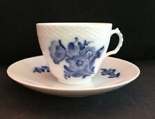 Royal Copenhagen Braided Blue Flower 1961 1st Quality Cup & Saucer 8261