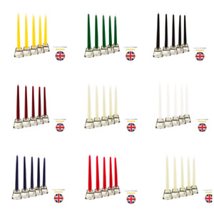 Tapered Dinner Candles NON-DRIP Candels Home Party Church Bistro UK SELLER