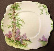 "Royal Albert Greenwood Tree 9 X 9.5""Handled Cake Plate 1# Quality England"