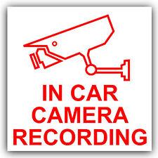 En coche cámara de grabación sticker-cctv sign-van, Camión, Camioneta, Taxi, Bus, Mini cab-ext