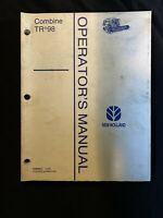 New Holland Combine TR98 Operator's Manual  *1116