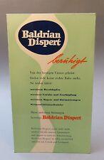 Baldrian Dispert Pappaufsteller Publicité Plaque Affiche Pharmacie Um 1958