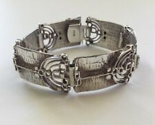 Vintage Teka Designer Bracelet 925 Silver 1970's Germany Modern Design